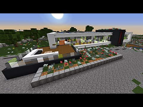 minecraft maison moderne minimaliste par mrhamak youtube. Black Bedroom Furniture Sets. Home Design Ideas