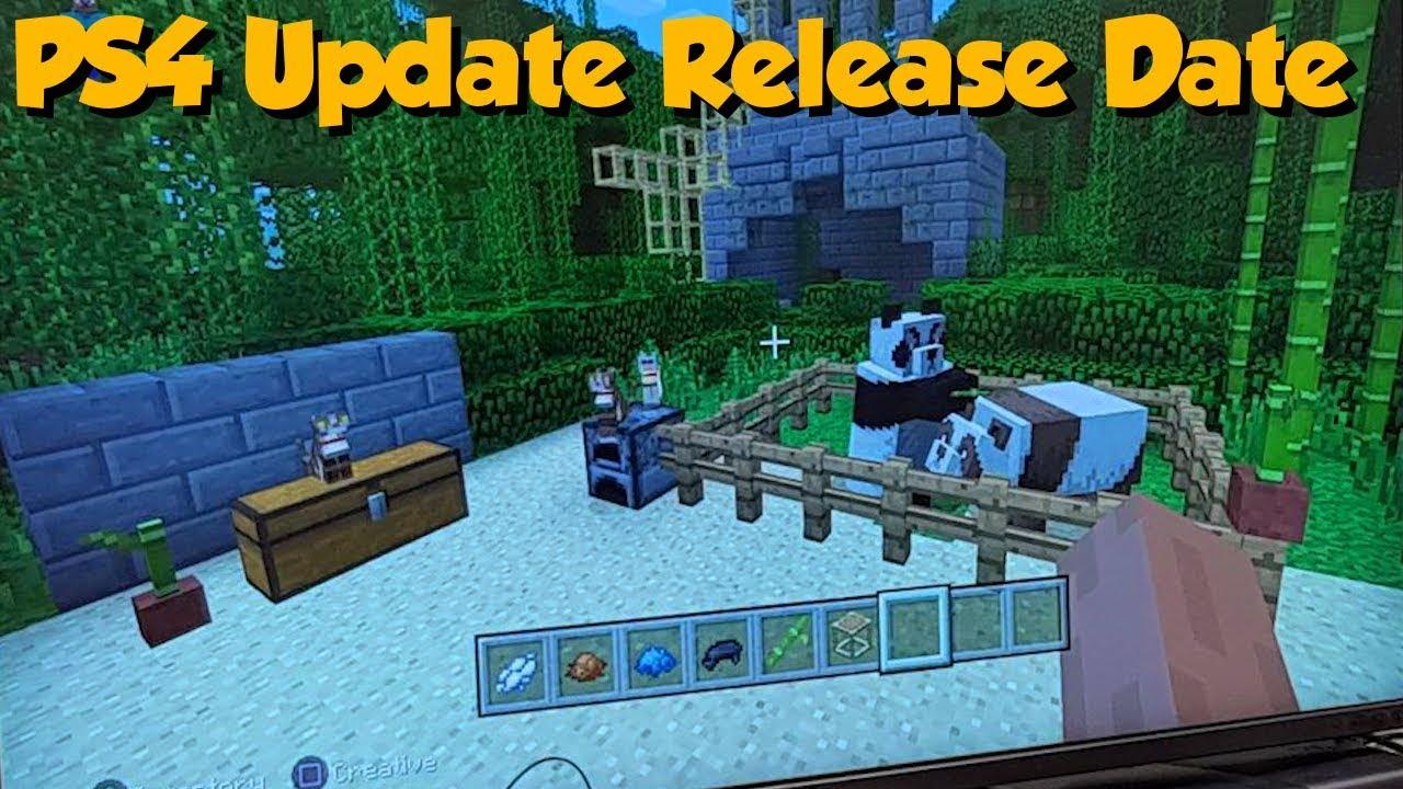 minecraft newest update ps4