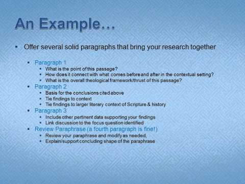 Minor Prophets DOL1 Exegesis Paper   Synthesis of Research