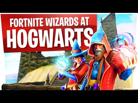 Wizards at Hogwarts in Fortnite w/ Wildcat - New Wizard Skins Fun thumbnail