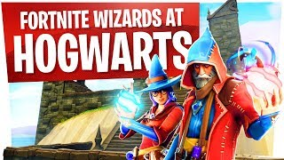 Wizards at Hogwarts in Fortnite w/ Wildcat - New Wizard Skins Fun