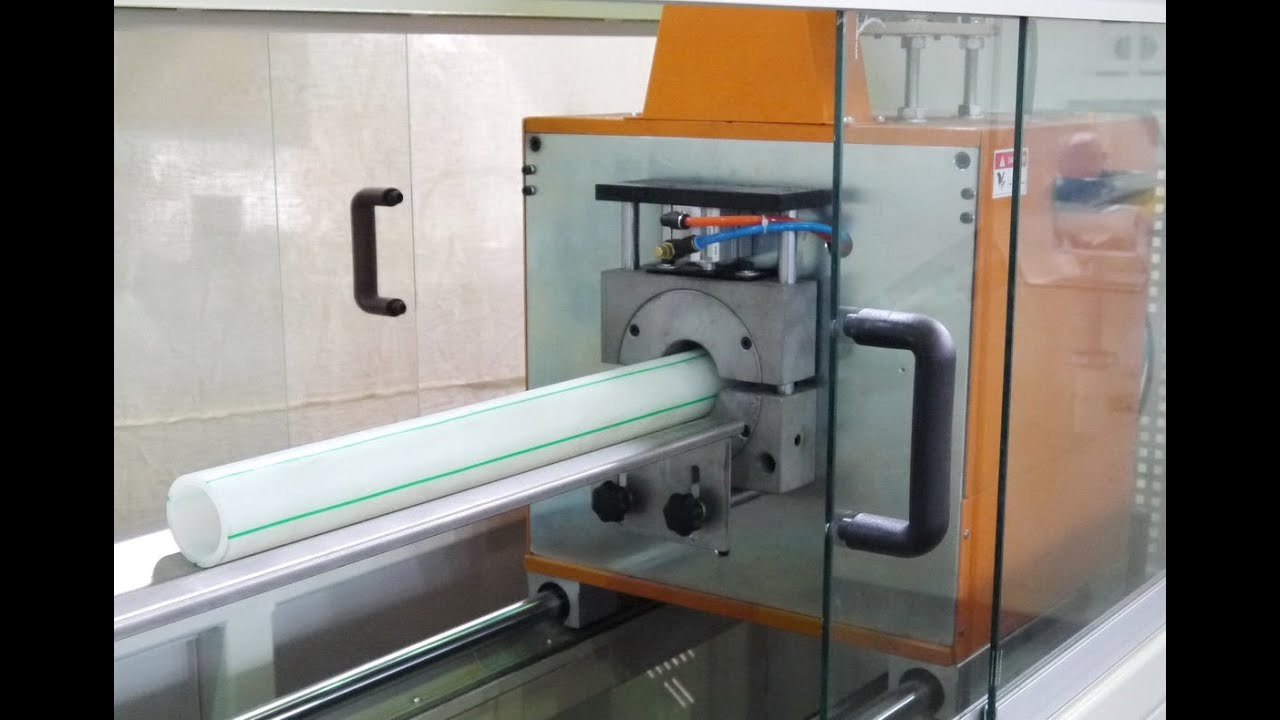 CUTTING MACHINE FOR PE/PPR PIPE - YouTube