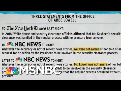 Evolving Lawyer Statements Could Mean Trouble For Jared Kushner | Rachel Maddow | MSNBC