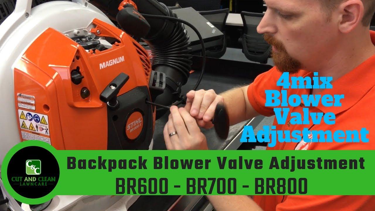 STIHL Technician BR800 Valve Adjustment ➡️ BR700   BR600