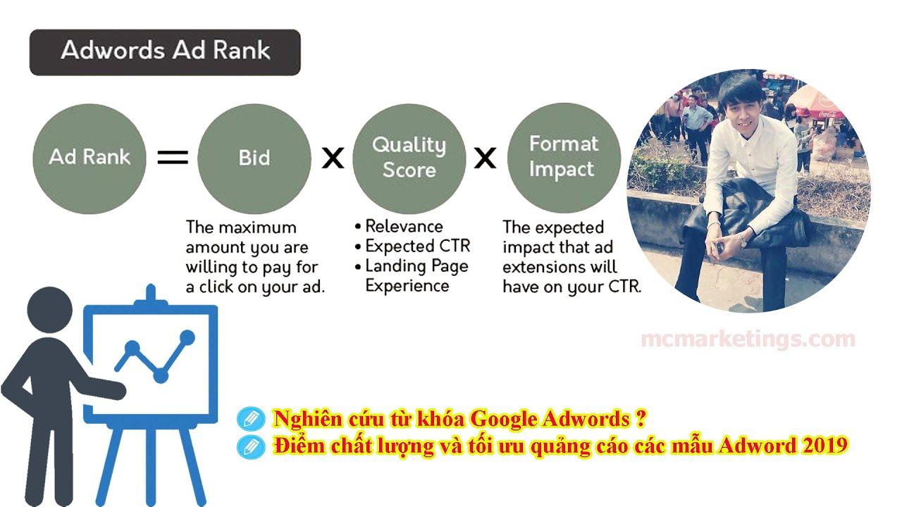 Nghiên cứu từ khóa và Tăng điểm chất lượng Adrank Google Adwords đầy đủ chi tiết nhất 2019