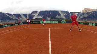 Davis Cup 2012: ESP-AUT -- Videotagebuch Tag 3 (Teil 2) - GoPro Action beim Doppel!