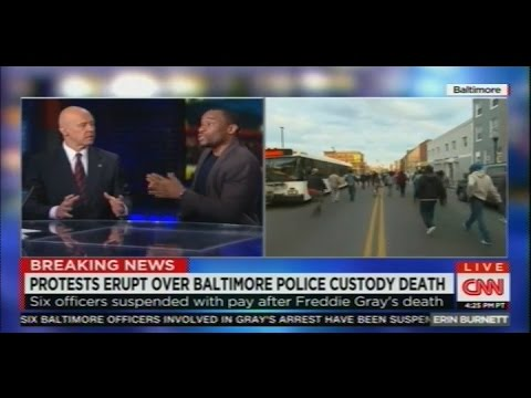 Erin Burnett covers the Freddie Gray protests