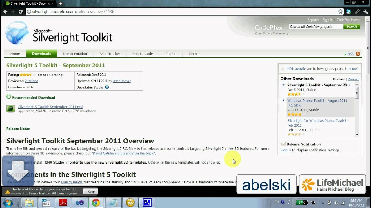 silverlight toolkit download