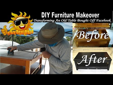 DIY Furniture Makeover   Transforming An Old Table Bought Off Facebook (Before and After)