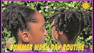 🌞😎Summer Wash Day Routine | Kennedi's Essentials