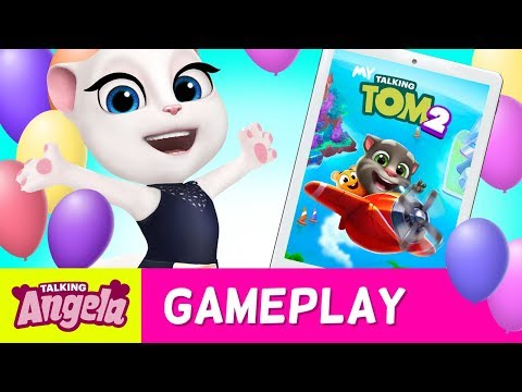 💖 A Day Playing My Talking Tom 2 (NEW Game) - Talking Angela