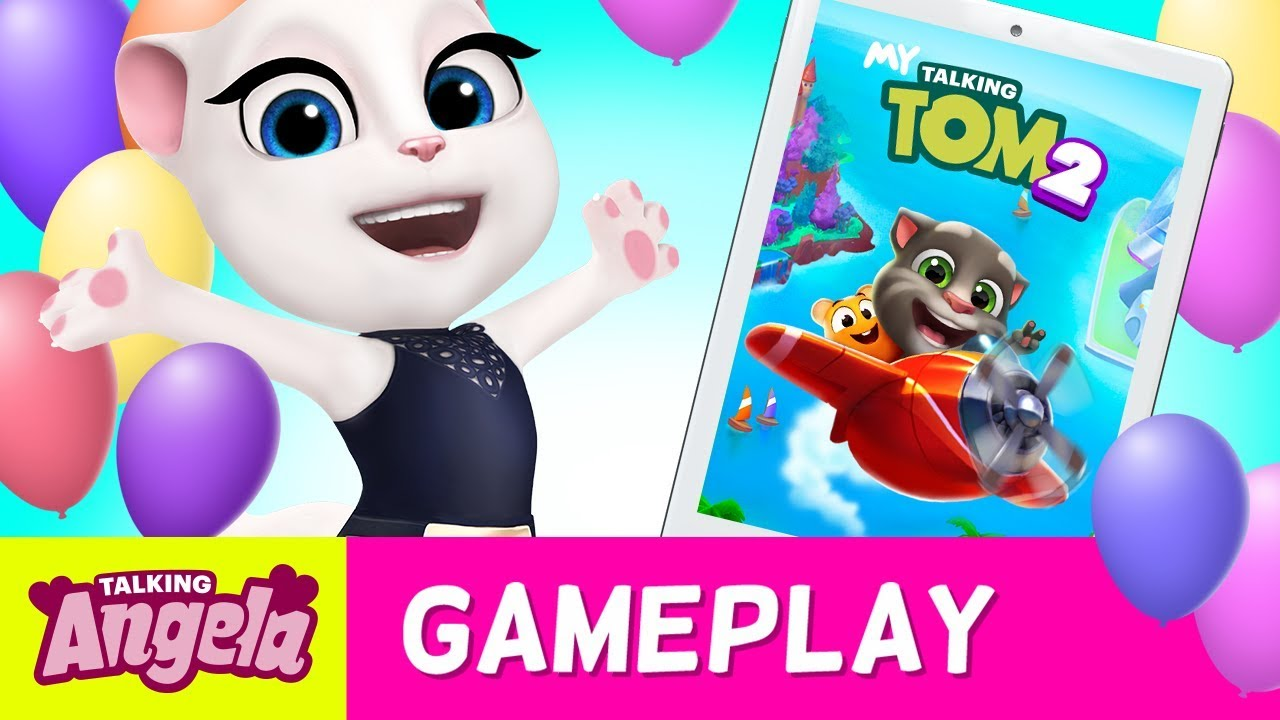 💖 A Day Playing My Talking Tom 2 (NEW Game) – Talking Angela