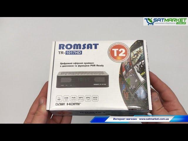 Видео обзор Romsat TR-1017 HD