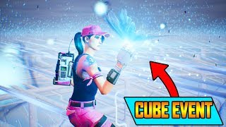 FORTNITE - CUBE EXPLODING FINAL EVENT REACTION LIVE! (Fortnite Loot Lake Kevin RIP)