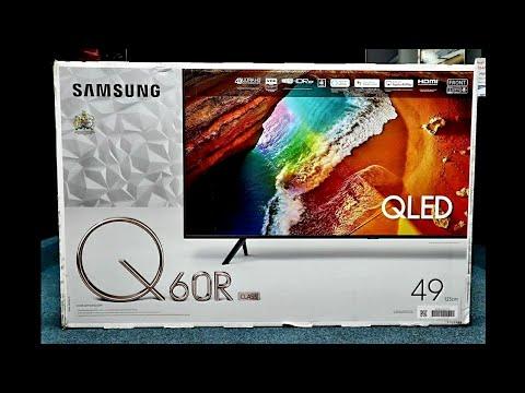 Samsung QLED 4K 2019 Q60R Unboxing and Setup + DEMO, QE49Q60R