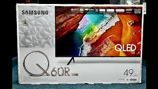 Samsung QLED 4K 2019 Q60R Unboxing and Setup + DEMO, QE49Q60R