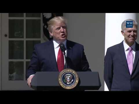 President Trump Swearing In Ceremony of Neil Gorsuch - Day 81