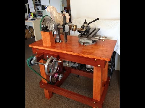 Rose engine homemade, tour a guillocher
