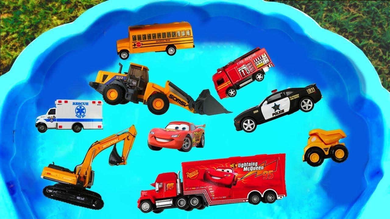 Download Camión de Construcción para niños - Excavadora, Ambulancia, Coche de Policía, Camión de la Basura
