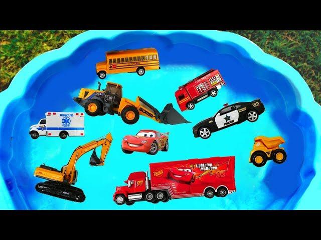 Camión de Construcción para niños - Excavadora, Ambulancia, Coche de Policía, Camión de la Basura