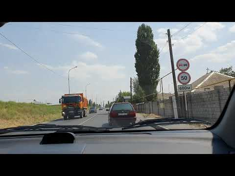 Driving in my car in Kazakhstan from Shymkent to Lenger
