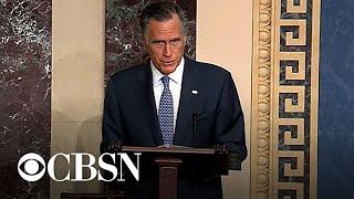 Mitt Romney catches backlash for impeachment vote
