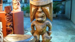 Tiki Carving in Hawai