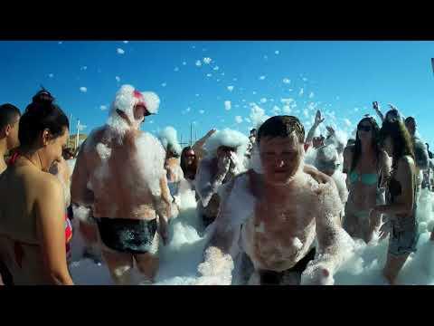Секс на пляже!! Пенная вечеринка! Завалило пеной! Угар на пляже!Турция Сиде 2017