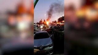 שריפה שרפות עשן שדרות מטח רקטות עזה