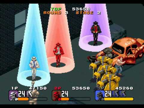 Michael Jacksons Moonwalker arcade 3 player Netplay 60fps