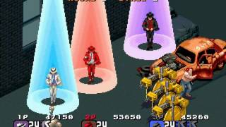 Michael Jackson's Moonwalker arcade 3 player Netplay 60fps