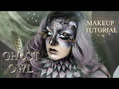 GHOST OWL - Halloween Makeup Tutorial