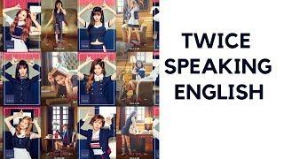 TWICE Speaking English K-pop