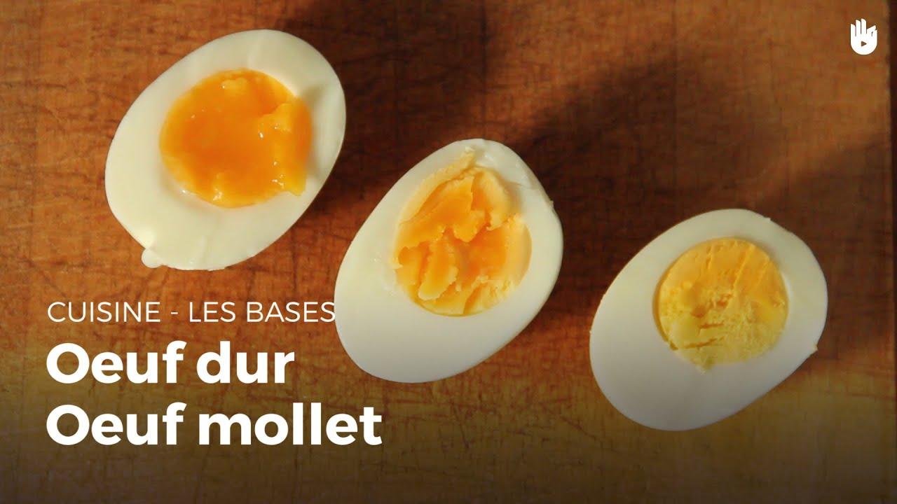 Oeuf mollet et oeuf dur cuisine youtube - Comment cuisiner des oeufs ...