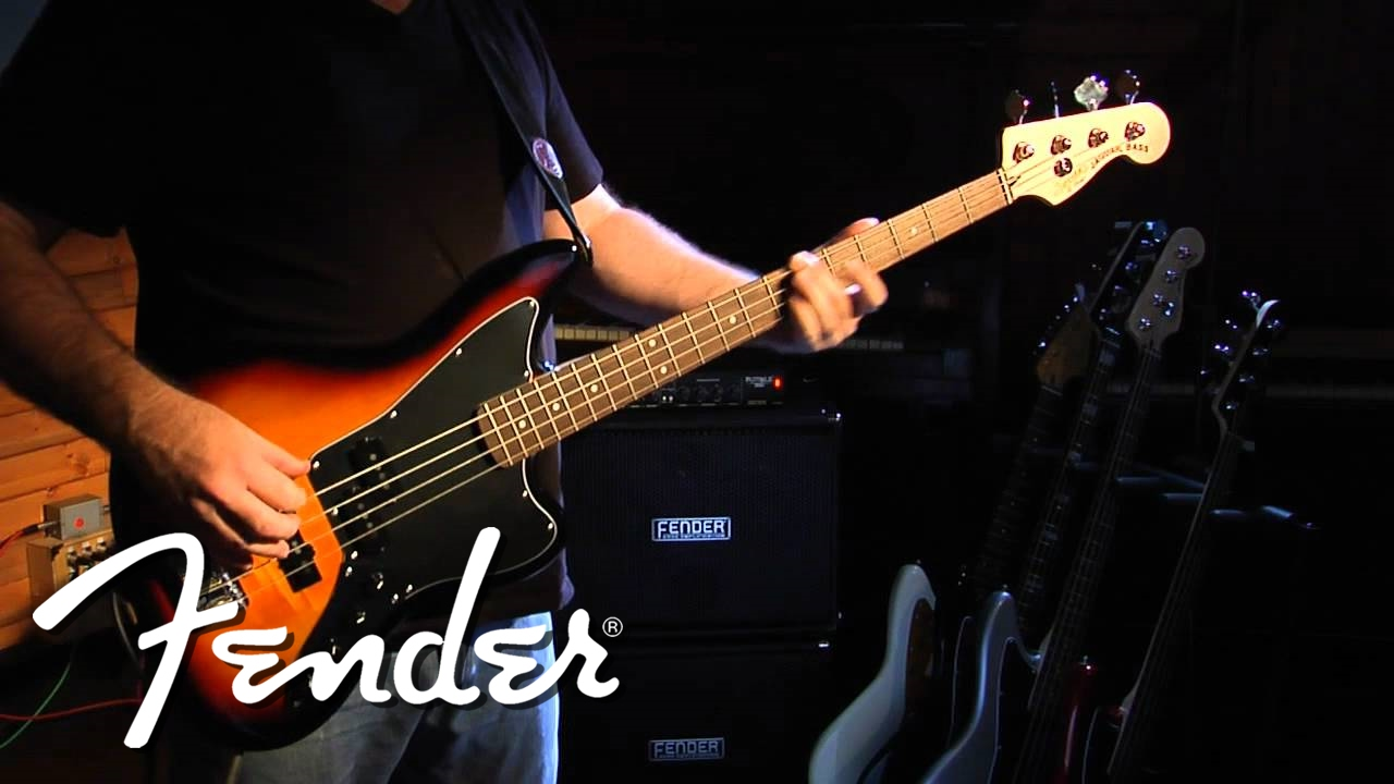 squier vintage modified jaguar bass special demo two fender youtube. Black Bedroom Furniture Sets. Home Design Ideas