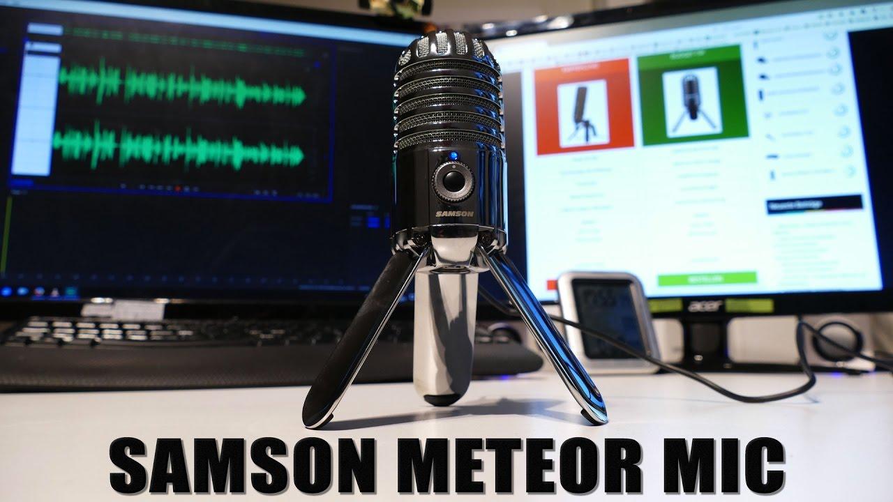 usb mikrofon test samson meteor mic review und unboxing auf deutsch by mikrofon. Black Bedroom Furniture Sets. Home Design Ideas
