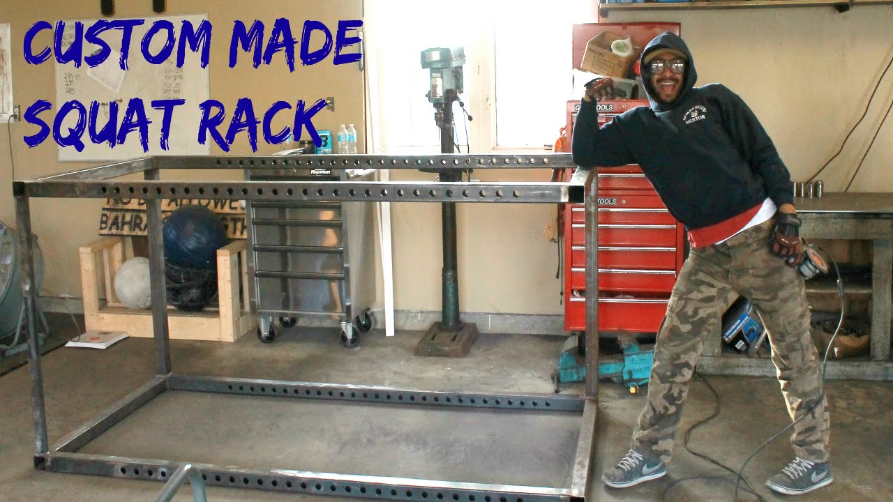 Custom Made Squat Rack - YouTube