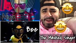 Reaction to The Bee and The Alien The Masked Singer
