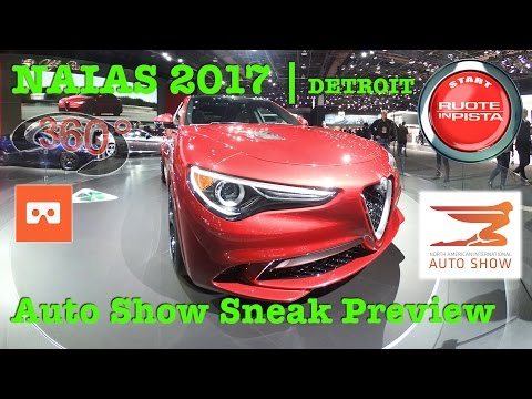 360° VIDEO 4K   NAIAS 2017 Detroit Auto Show   sneak preview