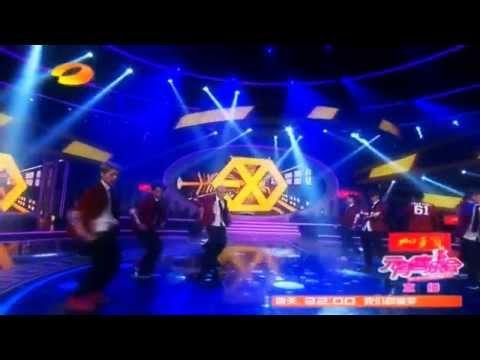 EXO -  Growl Remix @ Hunan TV Lantern Festival Gala 140214