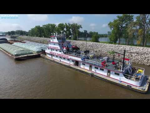 The M/V Pere Marquette at Lock and Dam 25 Winfield Missouri
