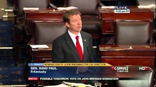Senator Rand Paul Stands up to Obama - Filibuster Hour 7 of 14