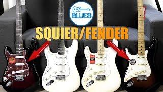 Squier vs Fender (MIM) vs Standard Strat vs Pro Series Stratocaster!