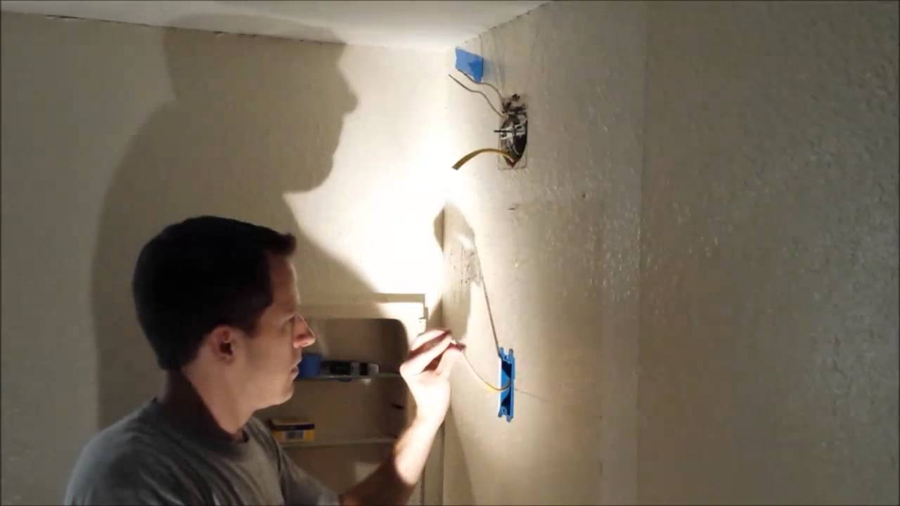 How To Add A Light Fixture Existing Circuit Youtube Wire That Is In The Ceiling From Switch Now Rose