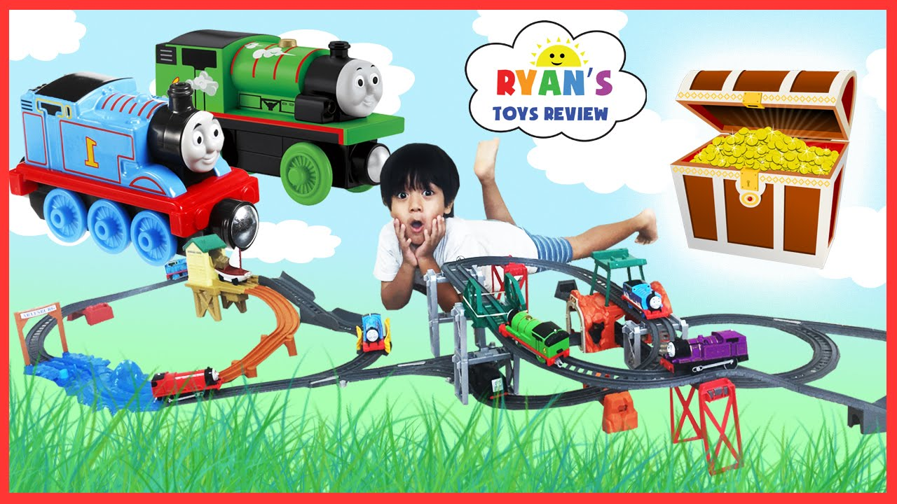 Fisher price thomas amp friends trackmaster treasure chase set new - Thomas And Friends Trackmaster Treasure Chase Set And 5 In 1 Track Builder Toy Trains For Kids Youtube