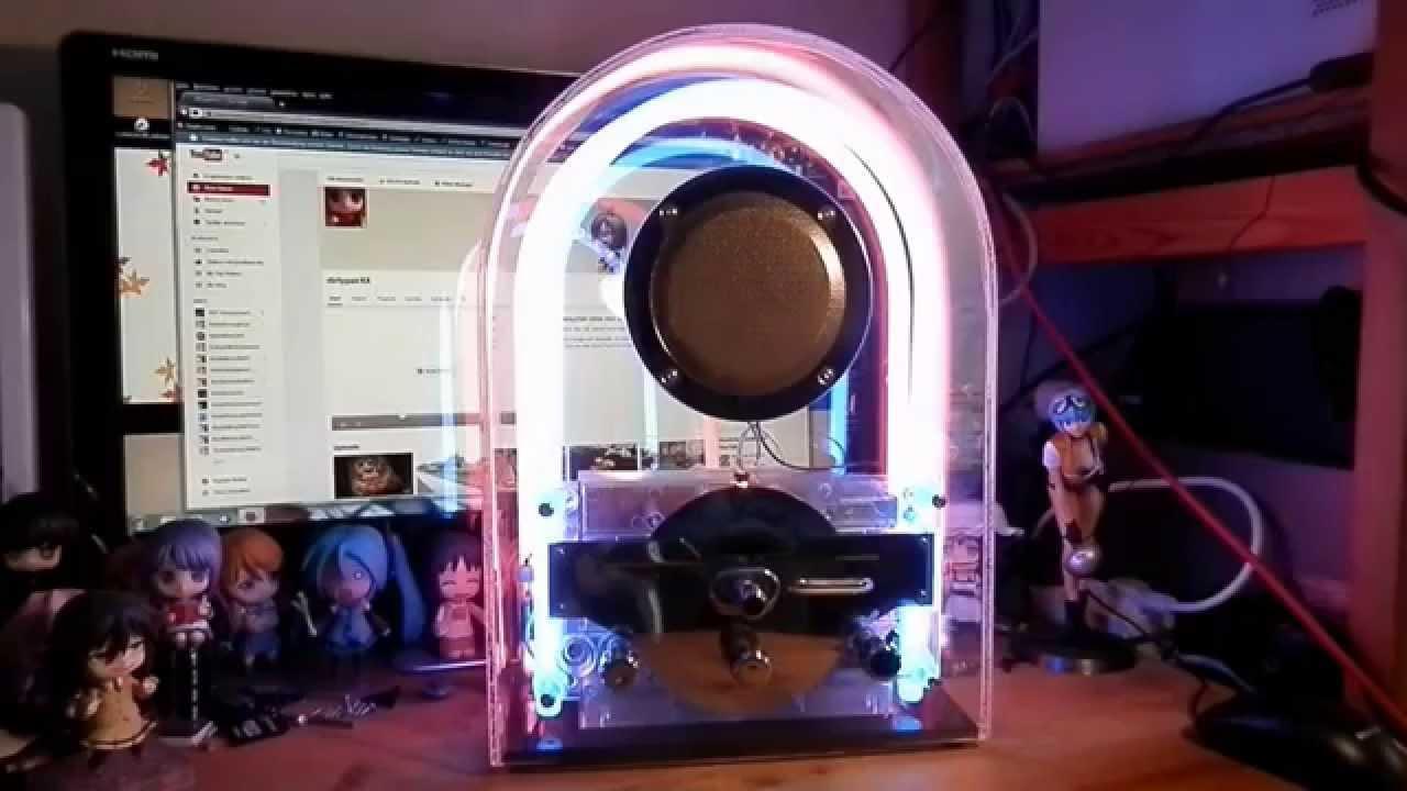 art deco acrylic glass neon tube radio dapy youtube. Black Bedroom Furniture Sets. Home Design Ideas