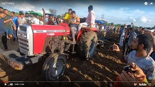 Massey 9000 tractor performed with 2 harrow in jhinjar harrow competition