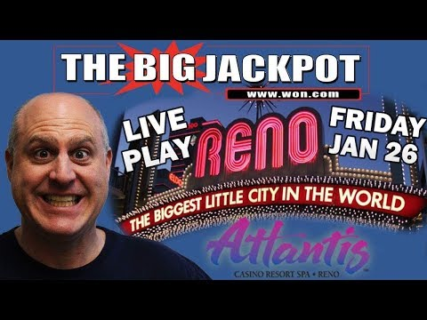 🔴 Live from Atlantis Casino and Resort in Reno💣 Mega Jackpot Time🎰