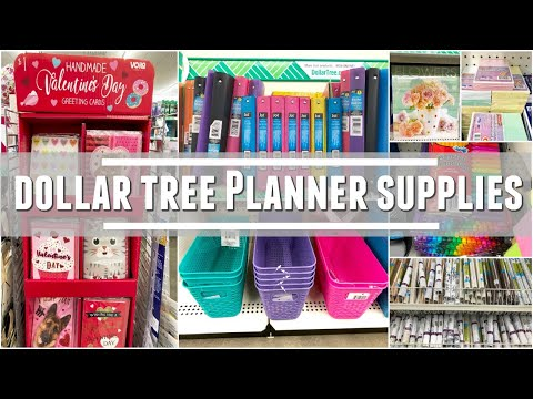 DOLLAR TREE | SHOPPING FOR PLANNER SUPPLIES