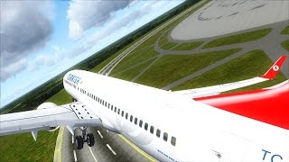 [FSX] NEW CIRCULAR RUNWAY TAKEOFF AND LANDING - B738 TURKISH AIRLINES